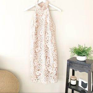 Belle Badley Mischka Sequin Formal Midi Dress